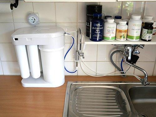 Osmoseanlage am Wasserhahn angeschlossen