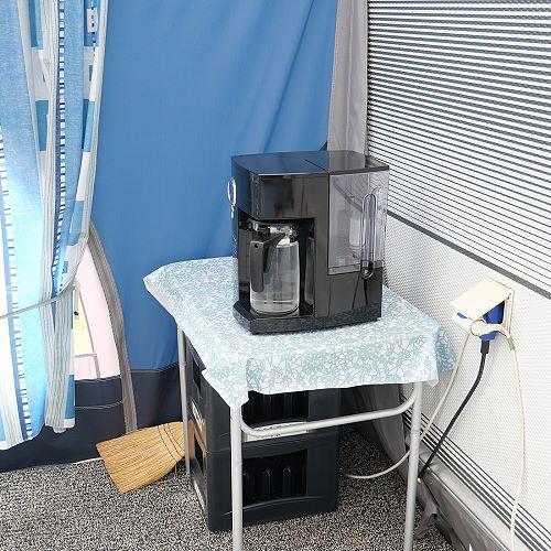 Anschluss-freie Osmoseanlage im Vorzelt
