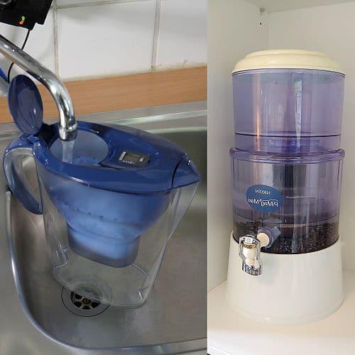 Schwerkraft- oder Kannen- Wasserfilter
