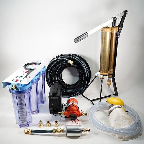 autarke Wasserversorgung für Reisemobile mit Hand e-Pumpe