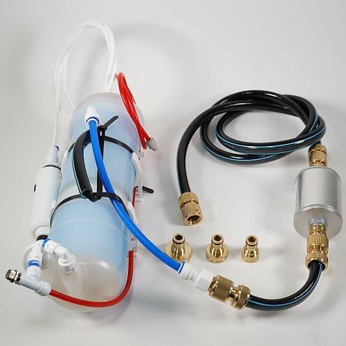 Osmosefilter im Füllschlauch zur Tankbefüllung in Reisemobilen zur autarken Wasserversorgung