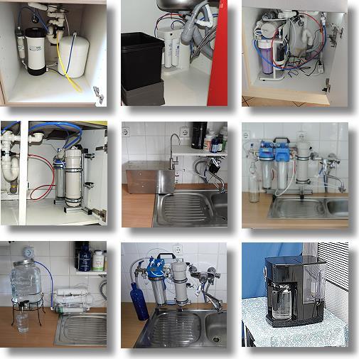 Verschiedene Systeme von Osmoseanlagen