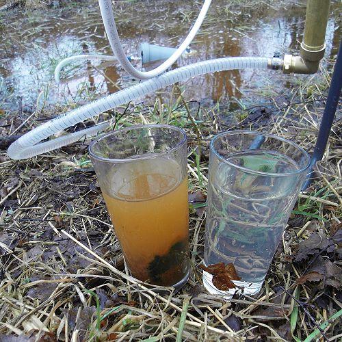 Bachwasser vorfiltern zur autarken Wasserversorgung
