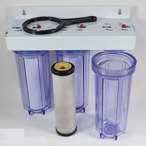 preiswerter 3-Stufen-Wasserfilter mit Filterpatronen