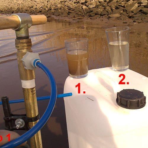 Wasser vorfiltern zur autarken Wasserversorgung