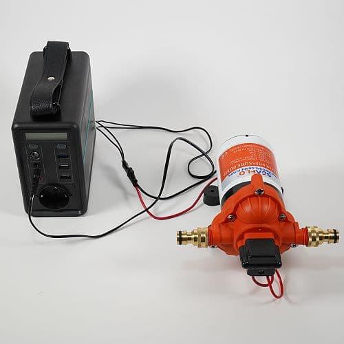 Autarke Wasserversorgung mit Elektro-Pumpe