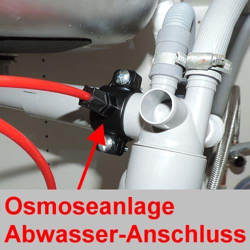 Osmoseanlage am Abwasserohr
