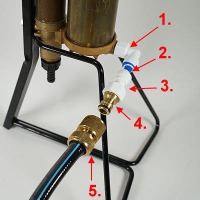 Abgangschlauch-Anschluss für Handpumpe