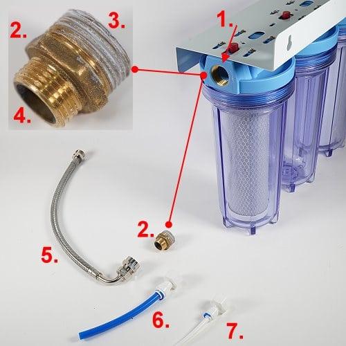 Anschussadapter Untertisch-Wasserfilter