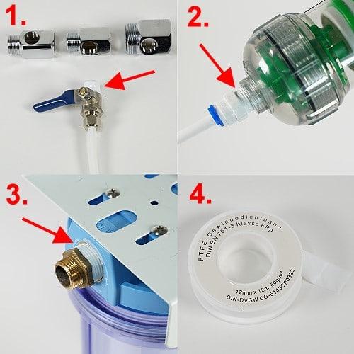 Wasserfilter-Gewinde mit Teflonband abdichten