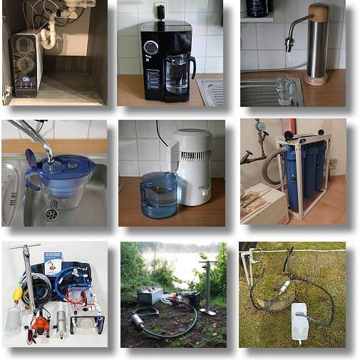 In- und Outdoor Wasserfilter