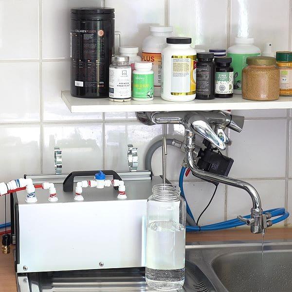 Osmose-Modul temporär am Küchenhahn