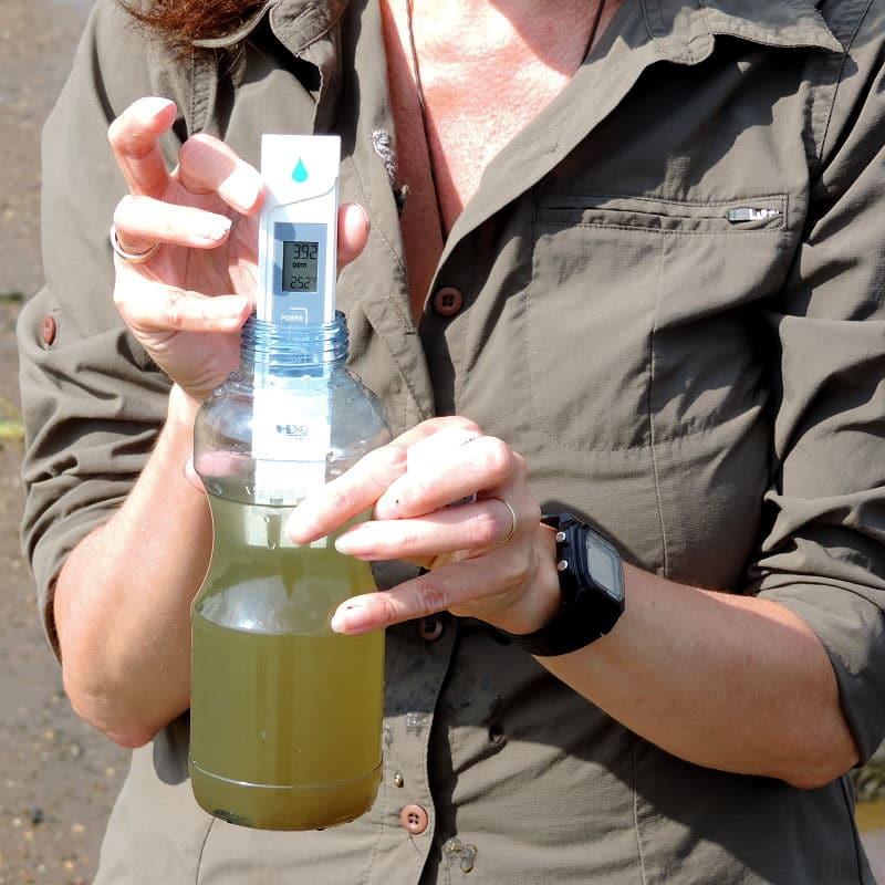 vor der Filterung sollte das Wasser geprüft werden